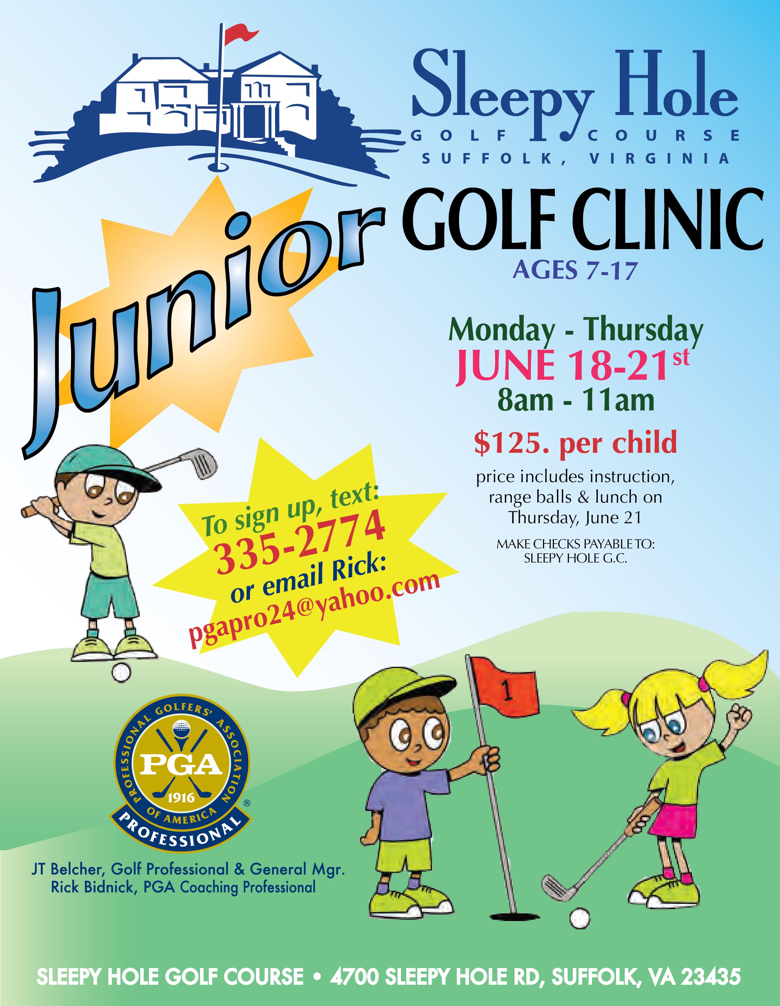 Junior Golf Clinic Sleepy Hole Golf Course